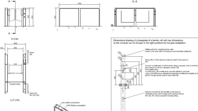 Door Cad Blocks Details And Drawings For All Kone Doors